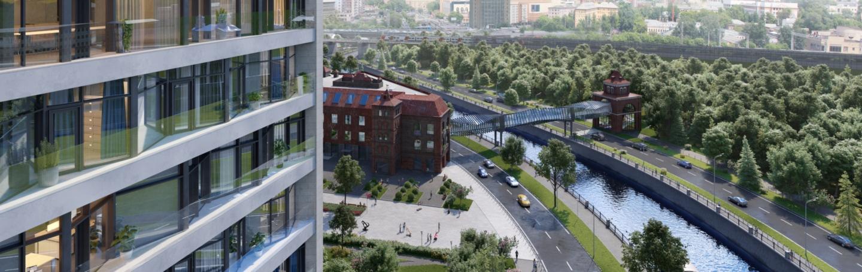 Проектный вид на пешеходный мост через Яузу. Визуализация: stroi.mos.ru