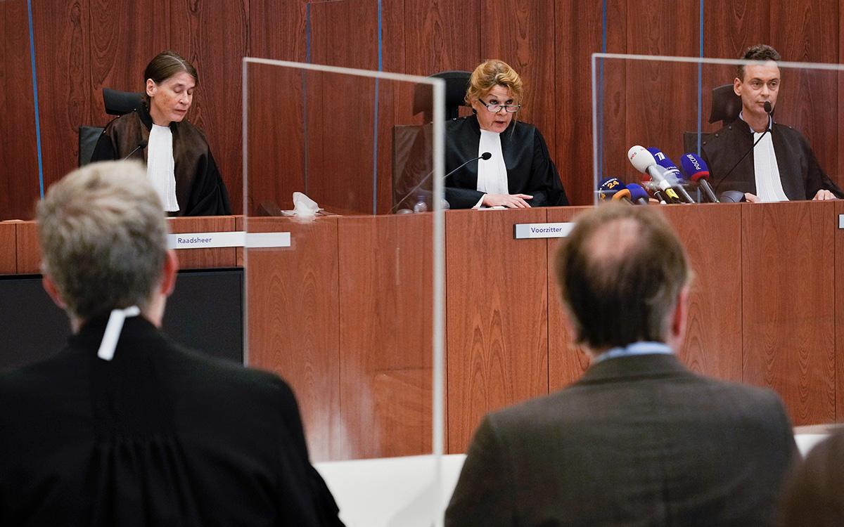 Оглашение вердикта в голландском апелляционном суде в Амстердаме, 26 октября 2021 г.