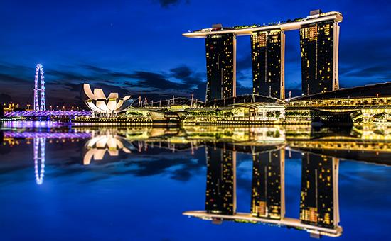 Вид на город-государство Сингапур