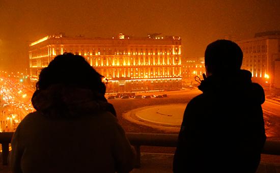 Вид на зданиеФедеральной службы безопасности России (ФСБ) наЛубянской площади
