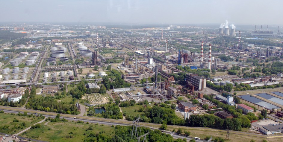 Вид на Капотню – район в Юго-Восточном административном округе Москвы