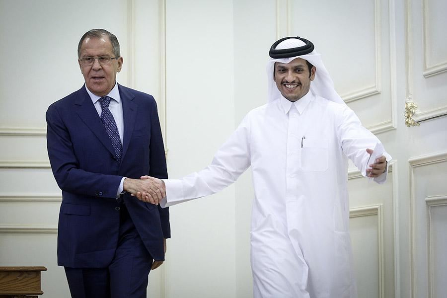 Сергей Лавров и Мухаммед бен Абдель Рахман Аль Тани