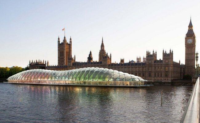 Визуализация плавучего здания парламента вЛондоне
