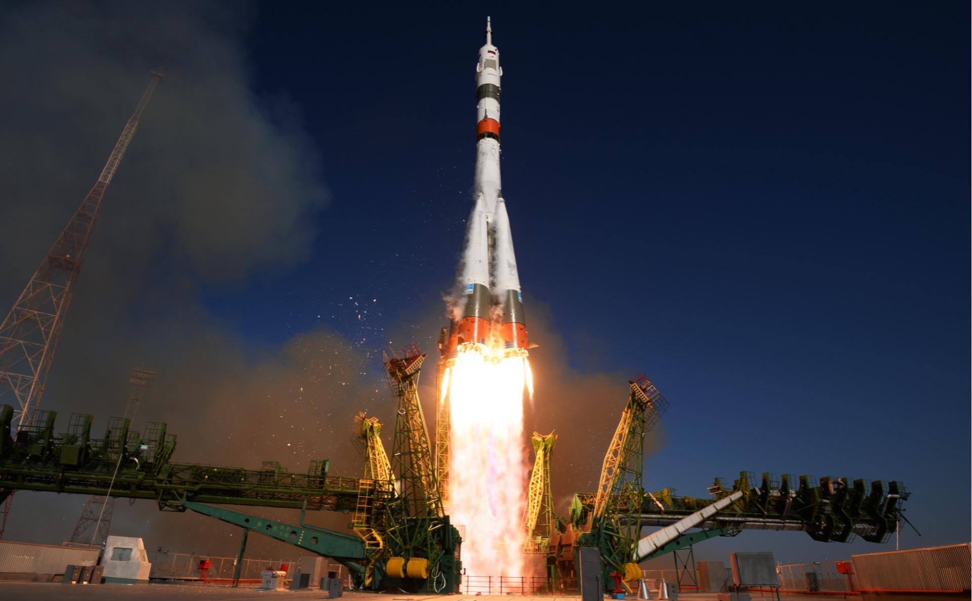 Запуск ракеты-носителя «Союз-2.1а» с Байконура