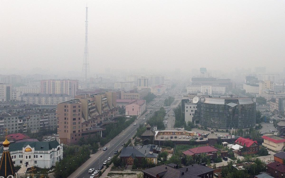 Роспотребнадзор зафиксировал в Якутске загрязнение воздуха из-за пожаров