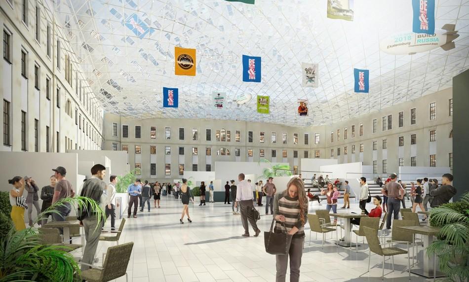 Визуализация интерьера будущей гостиницы