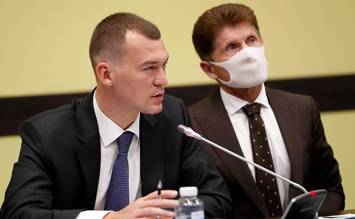 Михаил Дегтярев (слева)