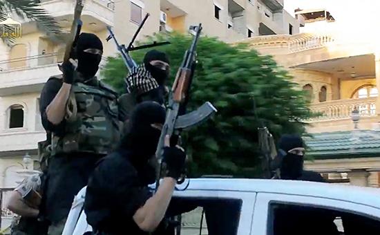 Боевики террористической группировки «Исламское государство» (запрещеннойвРоссии)