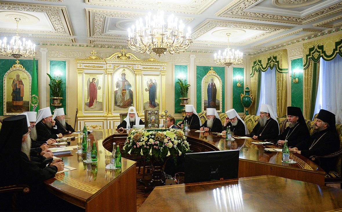 Внеочередное заседание Священного синода РПЦ в Москве