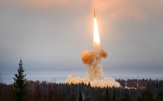 Пуск межконтинентальной баллистической ракеты «Тополь-М» скосмодрома Плесецк. Архивное фото