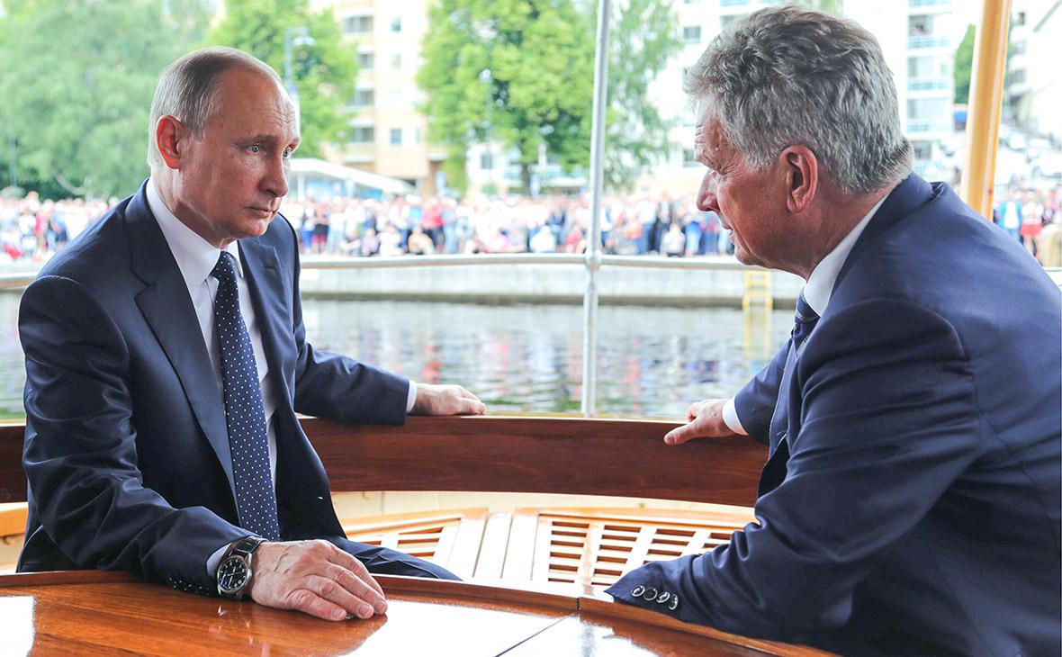 Владимир Путин и Саули Ниинистё (слева направо)