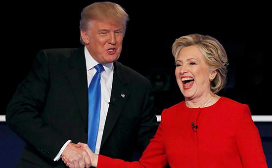 Избранный президент США Дональд Трамп и Хиллари Клинтон