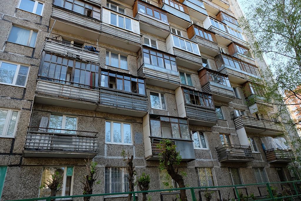 Жилой многоэтажный дом в московском районе Коптево