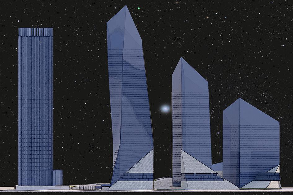 Космические кристаллы  В схеме территориального планирования комплекс «Звезда галактики» имитирует Млечный Путь, а сточкизренияконфигурации зданий проект отсылает ккристаллам, которые можно найти вуральских пещерах