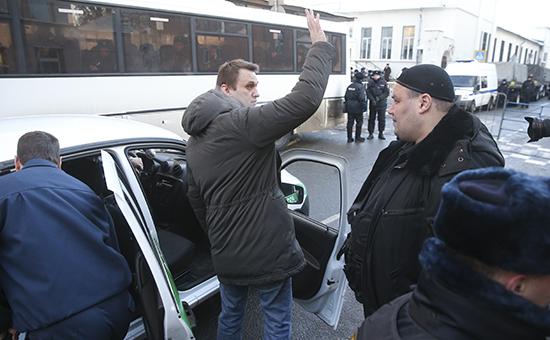 Алексей Навальный после оглашения приговора в Замоскворецком суде