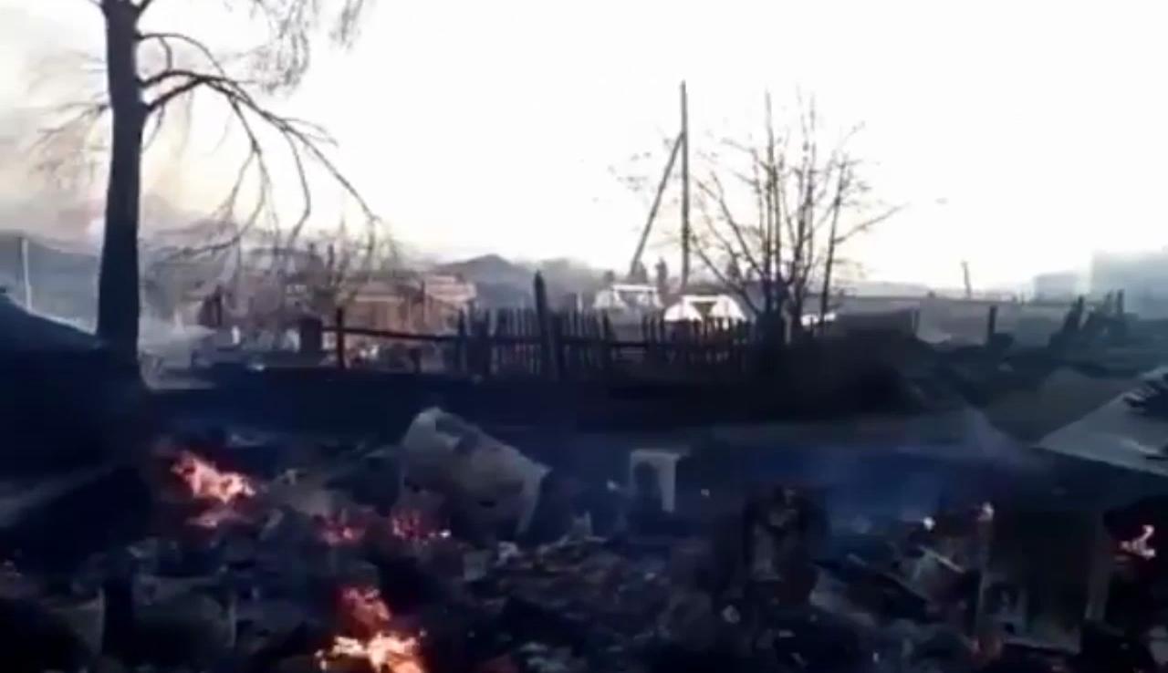 В поселке Бубновка Иркутской области произошел пожар