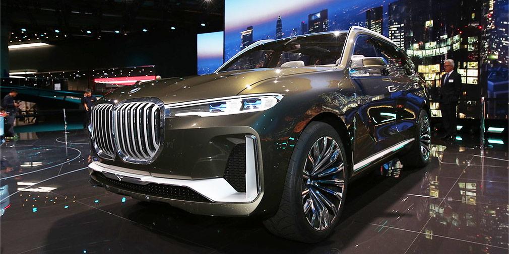 BMW X7  Пока во Франкфурте представили только концепт будущего самого большого семиместного кроссовера в линейке BMW — модели X7. Серийная версия появится только в следующем году.