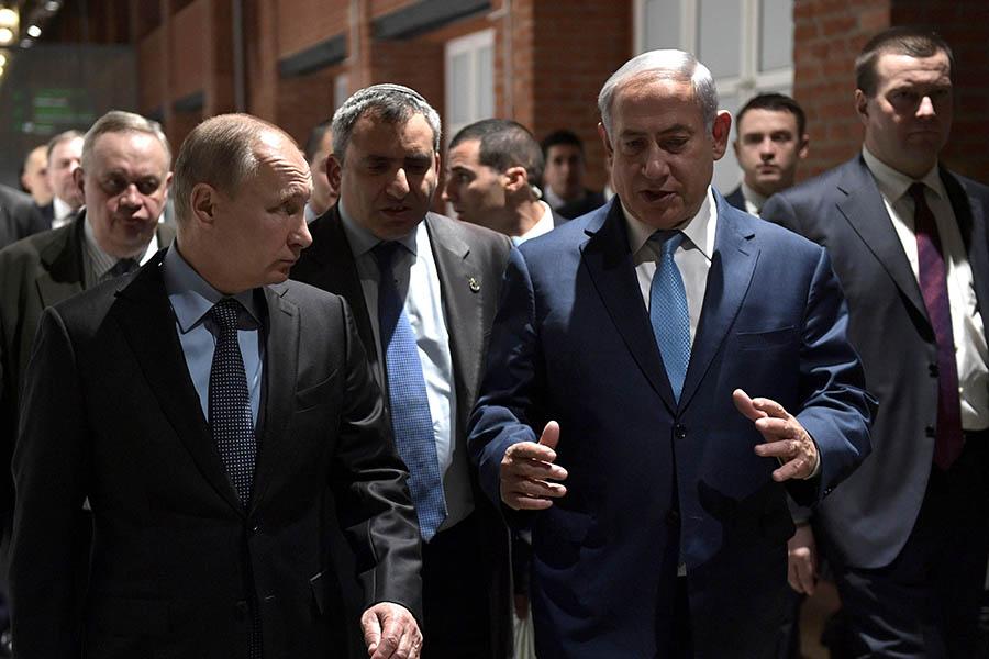 Владимир Путин иБиньямин Нетаньяху