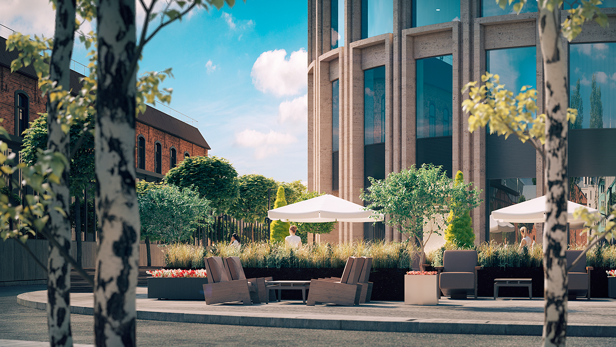 Здание БЦ будет построено с учетом требований стандарта «зеленой» архитектуры BREEM