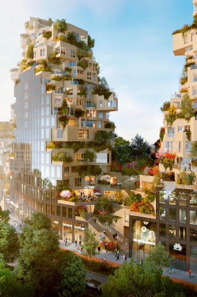 Проект многофункционального здания в Амстердаме