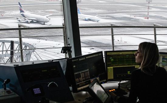 Работа диспетчерской службы аэропорта Шереметьево