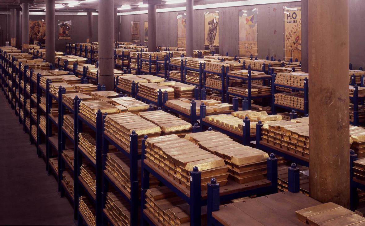 Одно из хранилищ золота Банка Англии