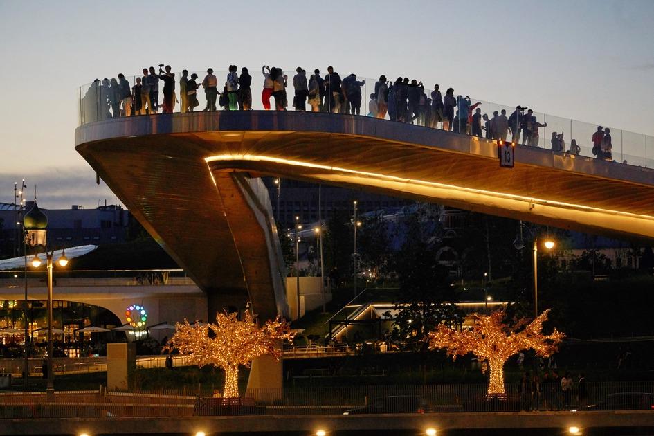 «Парящий мост» в парке «Зарядье»