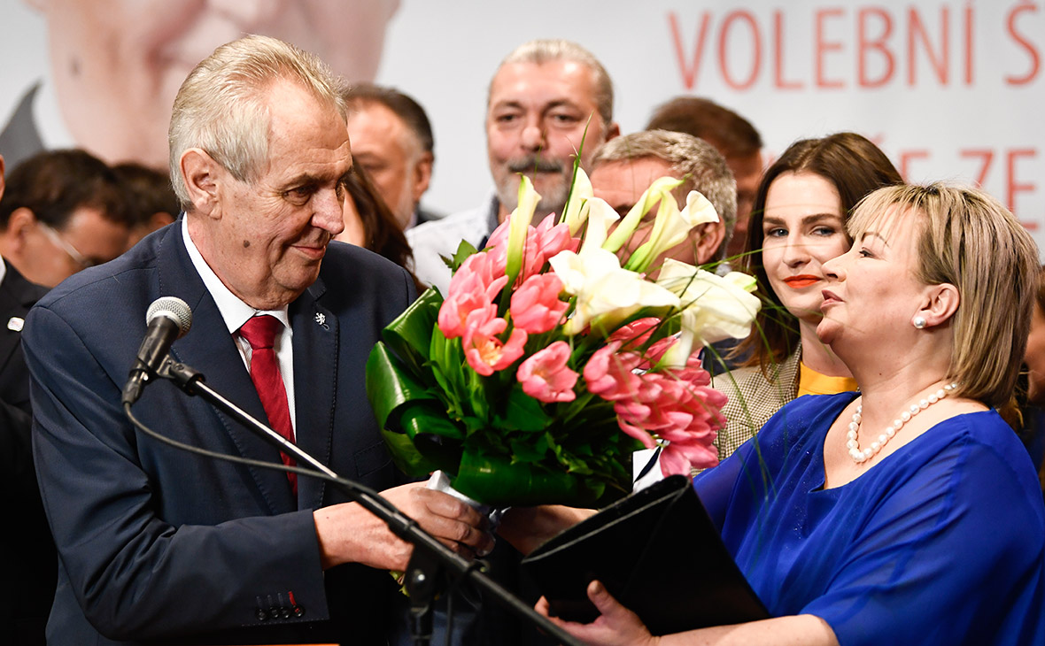 Милош Земан и его жена Ивана Земанова