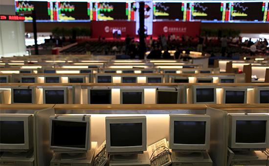 Торговый зал Шанхайской биржи