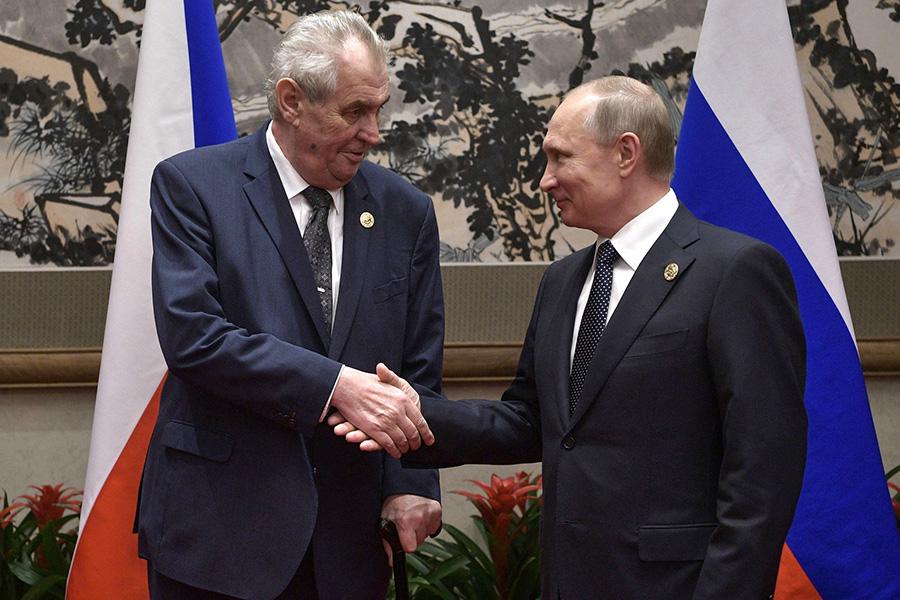 Милош Земан и Владимир Путин. 14 мая 2017 года