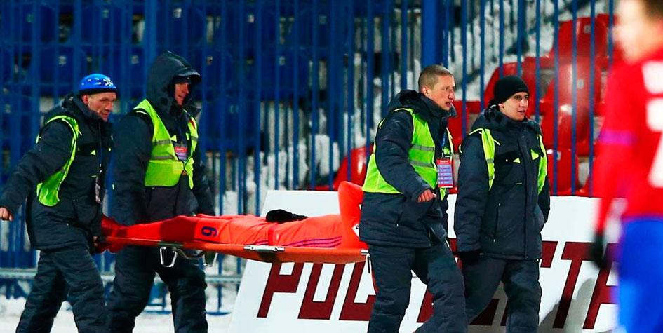 Игрок ЦСКА выбыл из строя на несколько месяцев после матча в Хабаровске