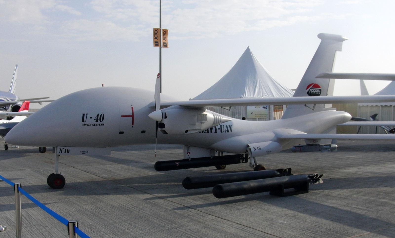 БПЛА ADCOM United 40 block 5 на одной из авиационных выставок