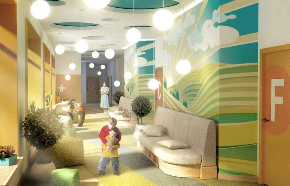 «Все пространство формируется попринципам антропологического дизайна, возникшего настыке архитектуры ипсихологии. Вариативность пространств позволяет ребенку выбрать, какему проводить время вэтот нелегкий длянего период: побыть наедине ссамим собой, пообщаться сродителями илизавести новых друзей. Мебель подобрана всоответствиисэргономикой детей»,— объяснил Идиатулин