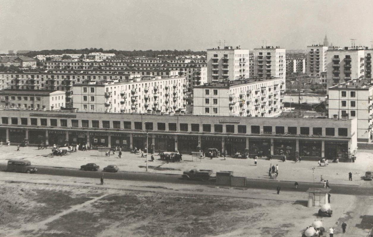 Вид на 20-й квартала в Рублеве. Автор А.Жиляков. 1968 год