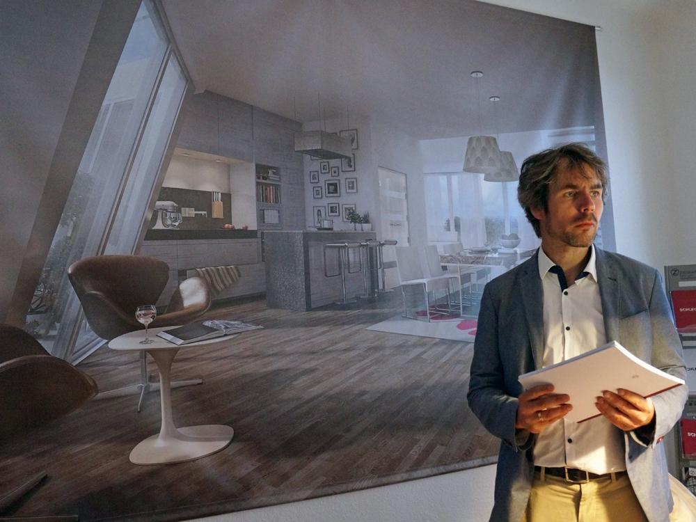 По словам Андре Шлютер из Ziegert (на фото), в доме Schlegel 28 будет проживать высокообеспеченные берлинцы, которым нравится дух старого города