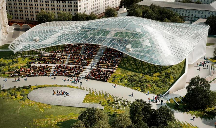 Визуализация проекта летнего амфитеатра в«Зарядье»