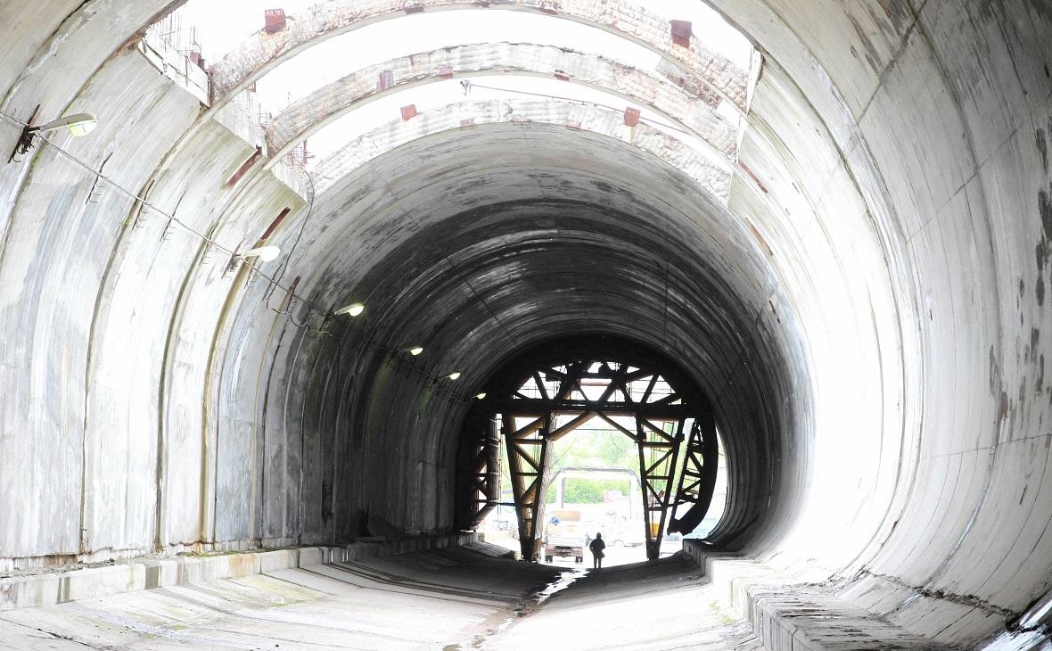 Строящийся тоннель Восточного выезда из Уфы