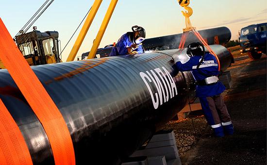 Сварка первого звена магистрального газопровода «Сила Сибири»
