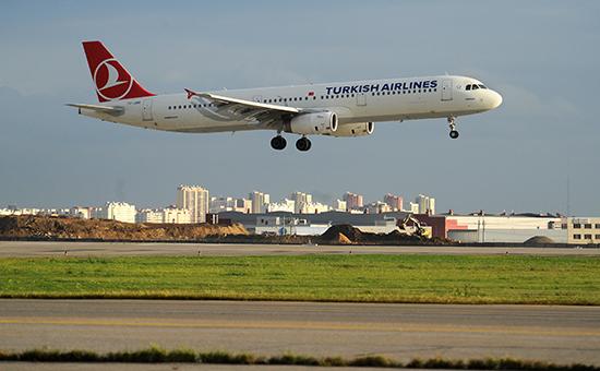 Турецкий пассажирский самолетв аэропорту Шереметьево. Архивное фото