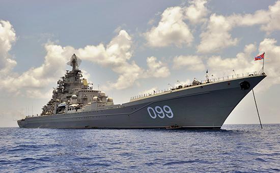 Флагман ВМФ России тяжелый атомный ракетный крейсер «Петр Великий»