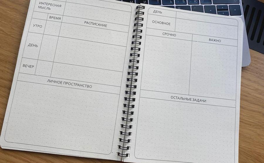 Дневник и матрица планирования