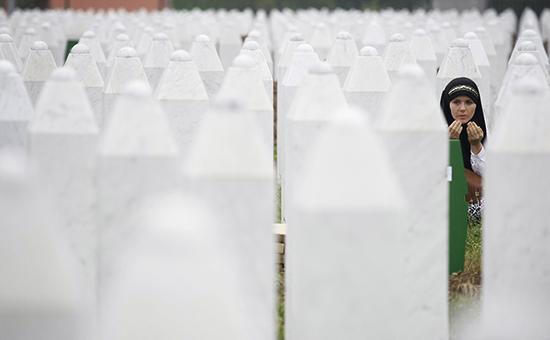 Мемориальное кладбище недалеко отСребреницы