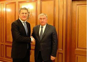 Радий Хабиров встретился с главой «Роснефти» Игорем Сечиным