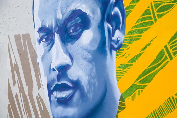 Граффити с изображением бразильского футболиста Неймара появилось в Казани