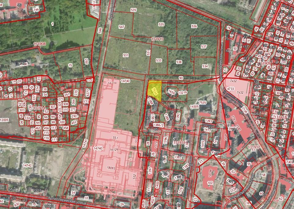 Фото:Скриншот кадастровой карты
