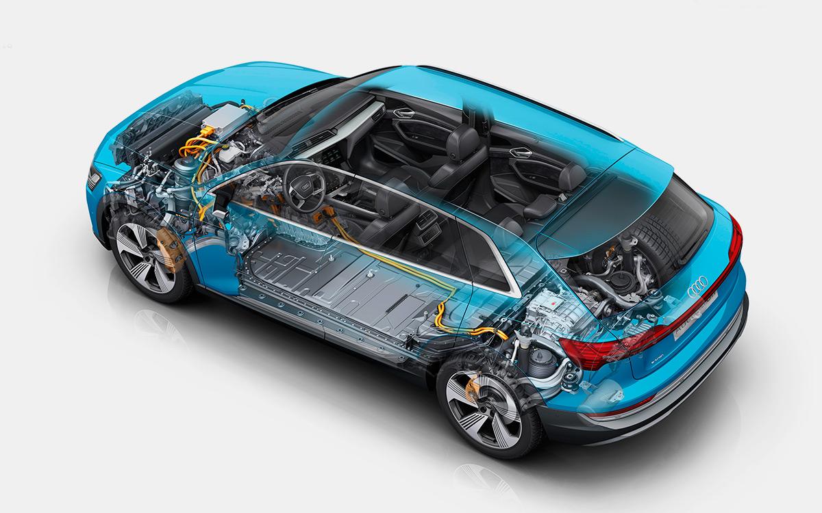 <p>Пополнить запас аккумуляторов Audi e-tron можно множеством различных способов.</p>