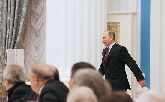 Президент России Владимир Путинна заседании Совета при президенте РФ по культуре и искусству в Кремле