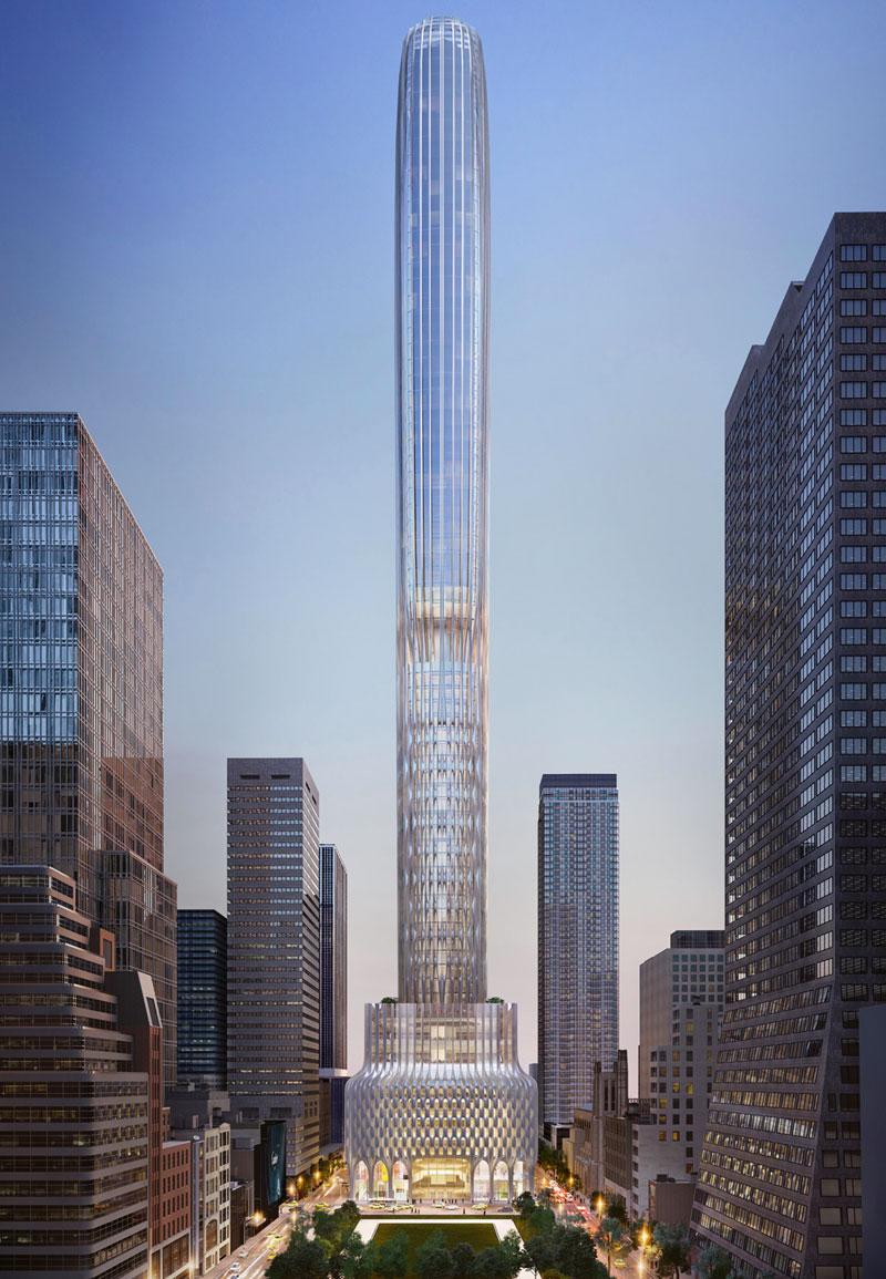 Небоскреб высотой 426 метров построят по проекту Zaha Hadid Architects