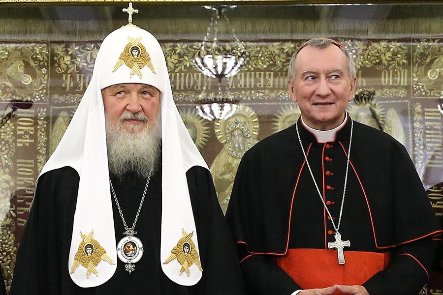 Патриарх Кирилл и Пьетро Паролин