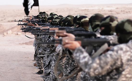 Боевики террористической организации «Исламское государство» всирийской Ракке
